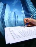 Realtor work. Realtor professional presentation business background Stock Photos