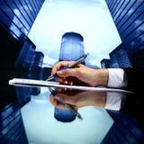 Realtor work. Realtor professional presentation business background Stock Photo