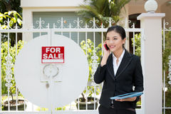 Realtor at work Stock Photography
