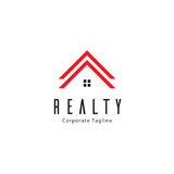 Realty Logo Template. Clean background for every presentation, high resolution, perfect detail work. Logo Template, can be customized in the EPS file. free font Stock Image