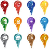 Realty Marker Icons vector illustration