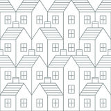 Realty pattern and backdrop. Real estate background. Houses seamless pattern, vector illustration Royalty Free Stock Photos