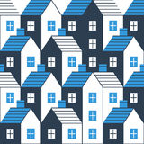 Realty pattern and backdrop. Real estate background. Houses seamless pattern, vector illustration Stock Photography
