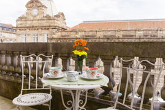 Realxing Afternoon Tea. On a Big Balcony Royalty Free Stock Photography