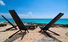 Realxing na praia Imagem de Stock Royalty Free
