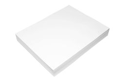 Ream of Paper. Isolated ream of white paper Royalty Free Stock Image