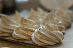 Сreamy meringues Stock Photos