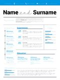 Reanude CV del minimalist, plantilla del curriculum vitae con el diseño simple, compan stock de ilustración