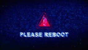 Reanude por favor la animación del error del efecto de la distorsión de la interferencia de la contracción nerviosa del ruido de  libre illustration