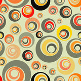 Reapeating backdrop. Seamless vector background, with circles Stock Photos