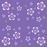 Reapeating floral backdrop. Royalty Free Stock Photos