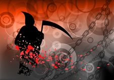 Reaper. Red dark background with reaper Stock Photos