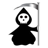 Reaper. Funny reaper cartoon isolated over white background Stock Photos