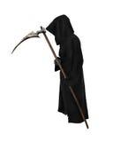 Reaper anziano con la falce Fotografie Stock