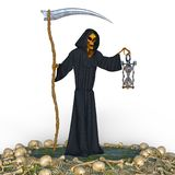 Reaper. 3D CG rendering of a reaper Royalty Free Stock Photo