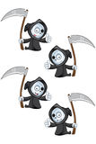 Reaper Giving A Thumbs Up. A cute little Grim Reaper illustration with different facial expressions Royalty Free Stock Photography