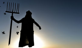 Reaper model silhouette Royalty Free Stock Image