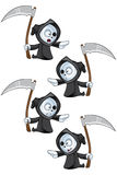 Reaper - Pointing. A cute little Grim Reaper illustration with different facial expressions Royalty Free Stock Photos