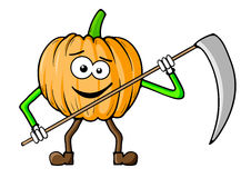 Reaper pumpkin Royalty Free Stock Images