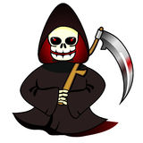 Reaper with scythe royalty free illustration