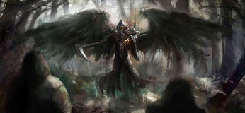 Reaper sinistre Photographie stock libre de droits