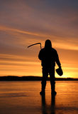 Reaper sinistre Photos libres de droits