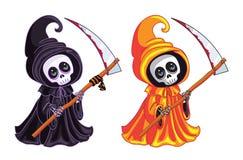 Reaper sinistre Deux caractères de différentes couleurs Photographie stock libre de droits