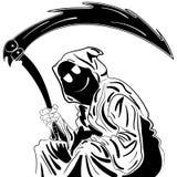 Reaper sinistre Illustration croquis d'encre tiré par la main Photographie stock