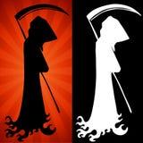 Reaper sinistre réglé Photo libre de droits