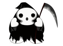 Reaper of souls. Color illustration of a nice reaper of souls Stock Photography