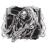 Reaper torvo del chitarrista Immagini Stock Libere da Diritti
