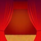 Reapertura del teatro de la cortina Stock de ilustración
