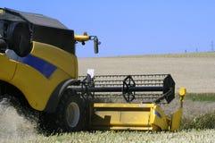 Reaping-machine threshing-machine with work Stock Photography