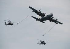 Reaprovisionamiento aéreo Fotos de archivo libres de regalías
