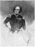 Rear-Admiral Sir John Franklin. Engraving of Rear-Admiral Sir John Franklin KCH FRGS 1786 – 1847 English Royal Navy officer and explorer of the Arctic royalty free illustration