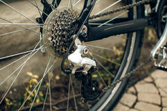 Rear bike derailleur Stock Images