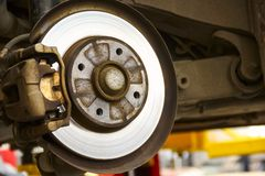 Rear Brake System Of Car Stock Photos