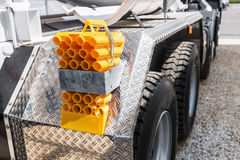 Rear bumper of construction machine Stock Photo
