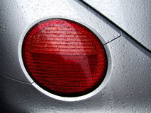 Rear car light and water dew drops Stock Photo
