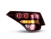 Rear car lights  on white 3d render Stock Images