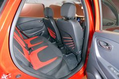 Rear car seat Royalty Free Stock Images