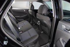 Rear car seat. Car interior, rear car seats which move Stock Photos