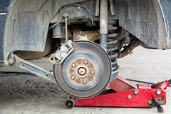The rear of the car without the wheels. Royalty Free Stock Image