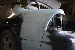 Rear Of Car Wreckage. Closeup rear shot of a car wreckage Stock Images