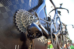 Rear Cassette Of Chris Froome's Time Trial Bike Stock Photography