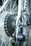 Rear chain gear of bicycle Royalty Free Stock Images