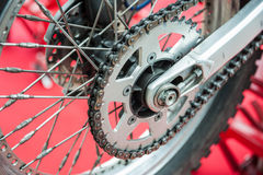 Rear chain of motorcycle Royalty Free Stock Photo