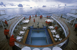 Rear deck of cruise ship Marco Polo, Antarctica Stock Photos
