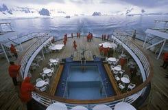 Rear deck of cruise ship Marco Polo, Antarctica Stock Photos