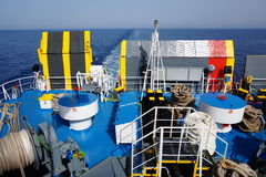 Rear Deck of Large Ferry Royalty Free Stock Image